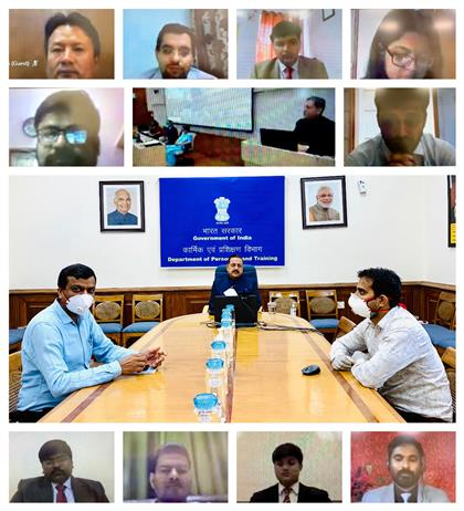 The Minister of State for Development of North Eastern Region (I/C), Prime Minister's Office, Personnel, Public Grievances & Pensions, Atomic Energy and Space, Dr. Jitendra Singh inaugurates the IAS Professional Course Phase-II (2018 Batch) of Lal Bahadur Shastri National Academy of Administration, Mussoorie, through a video conference, in New Delhi on July 06, 2020.