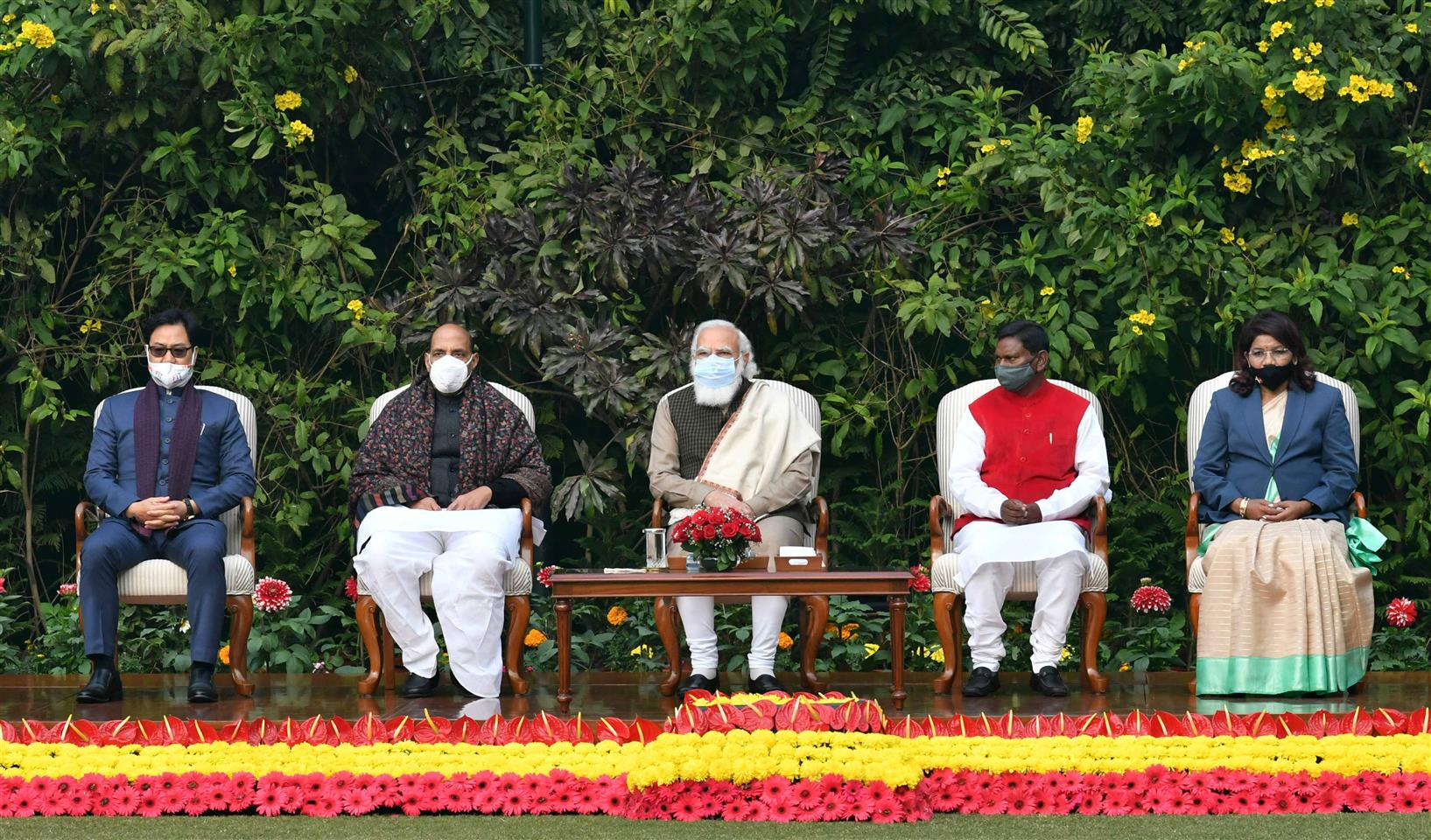 The Prime Minister, Shri Narendra Modi at an 'At Home' event, in New Delhi on January 24, 2021.