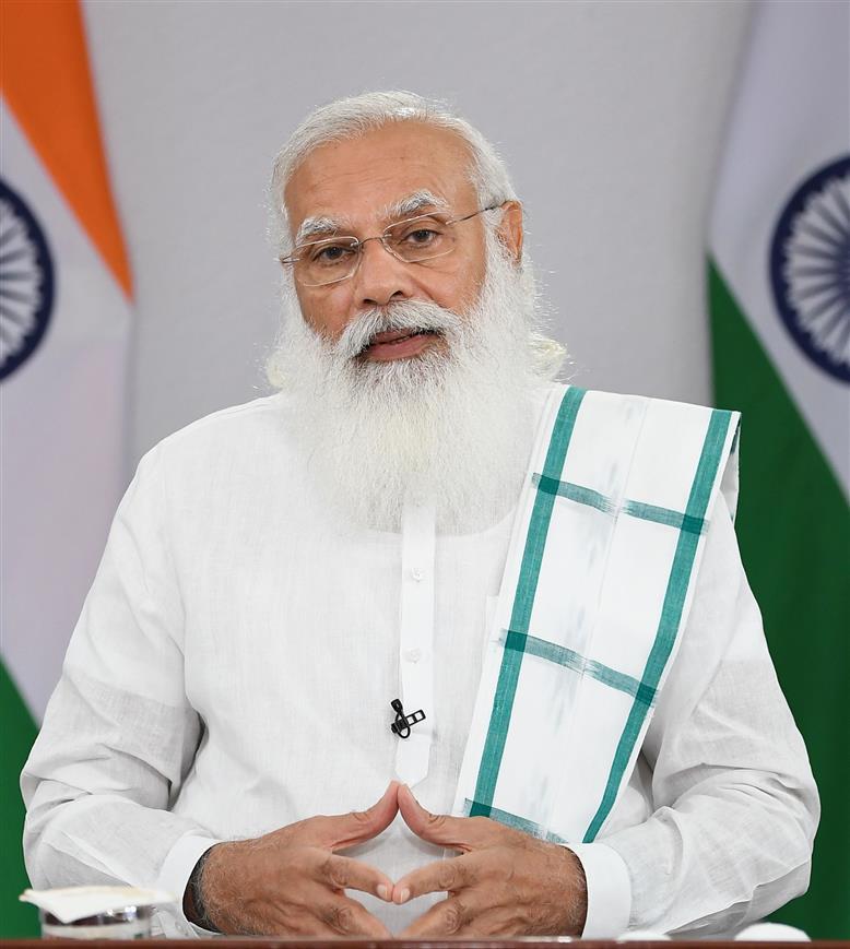 The Prime Minister, Shri Narendra Modi addressing the Toycathon-2021, through video conferencing, in New Delhi on June 24, 2021.