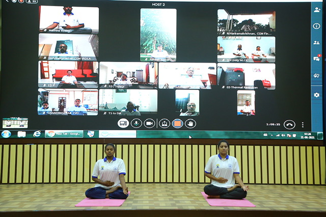 International Day of Yoga celebrated in NLCIL with enthusiasm