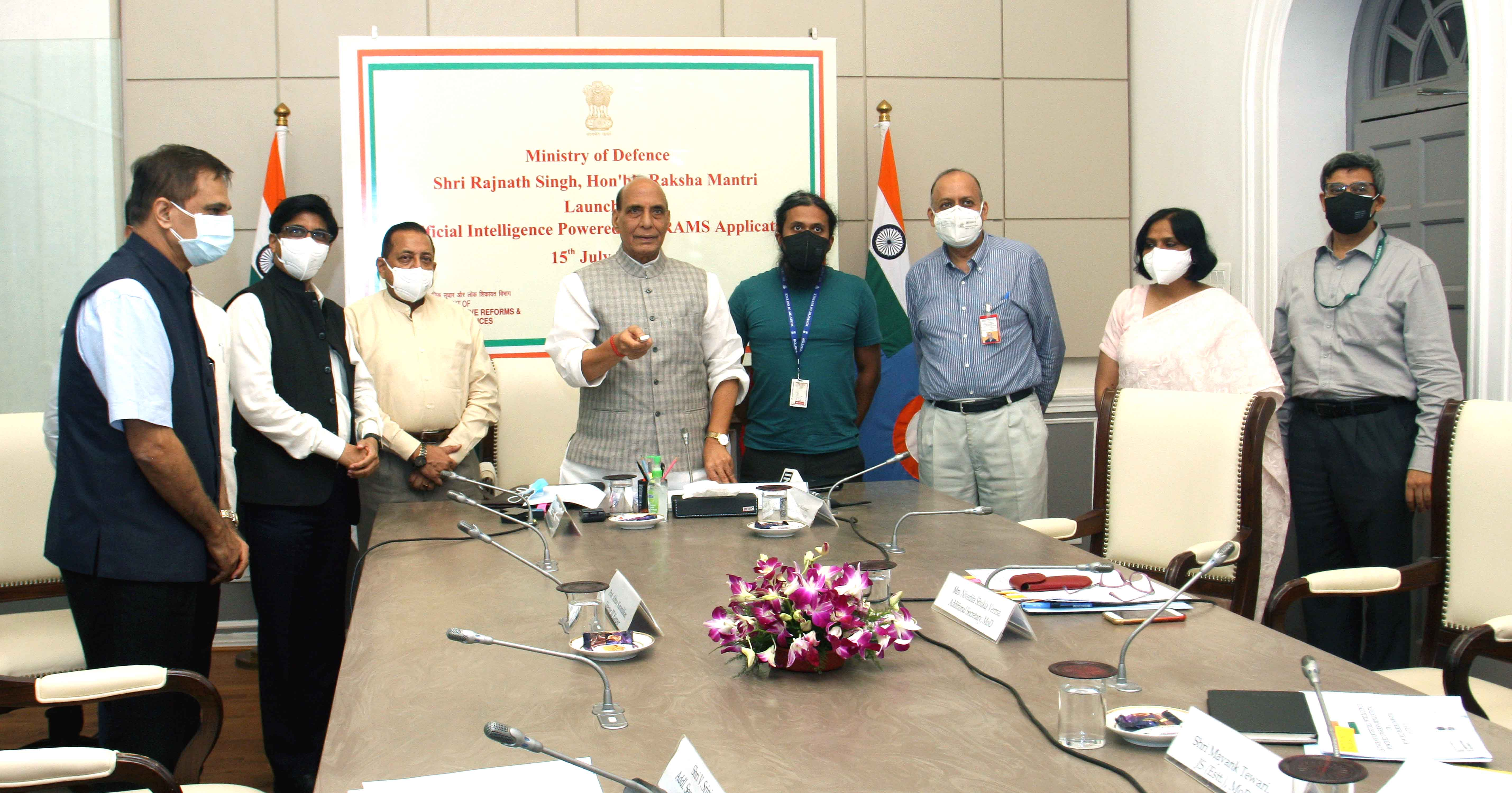 Raksha Mantri launches Artificial Intelligence powered grievance management application;