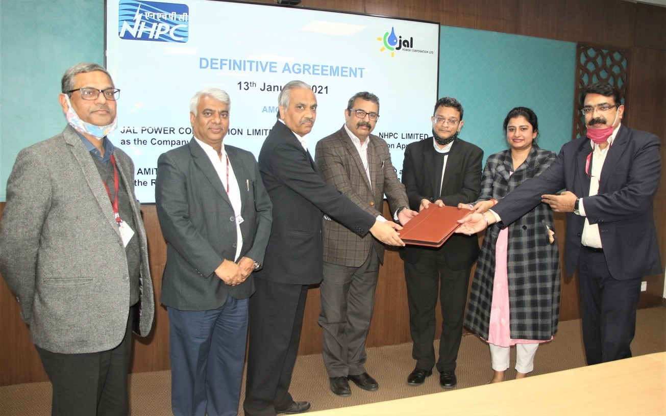 NHPC Signs Definitive Agreement for Implementation of Approved Resolution Plan for JPCL in Sikkim