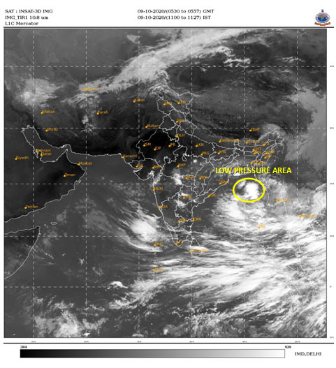 Low Pressure area over north Andaman Sea & adjoining east central Bay of Bengal