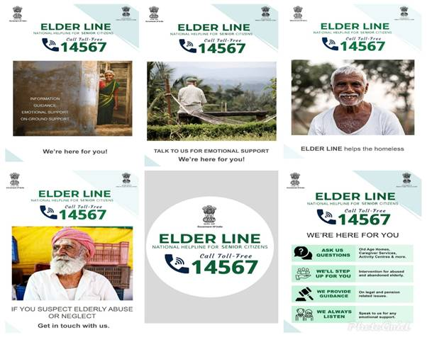 Toll Free Helpline for elderly persons ELDERLINE (14567) becomes operational in several states