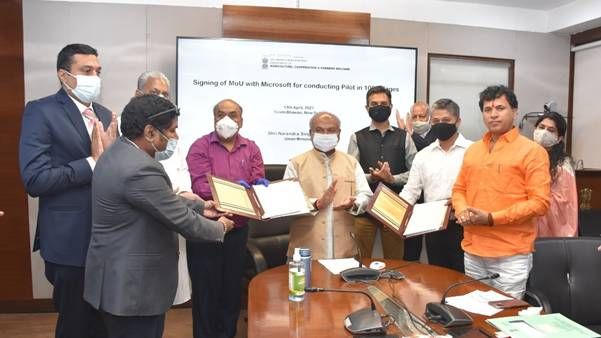 Agriculture Ministry Signs MoU with Microsoft for 100 Villages Pilot