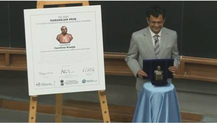 Ramanujan Prize for Young Mathematicians 2020 awarded to Dr. Carolina Araujo from Brazil for outstanding work in Algebraic Geometry