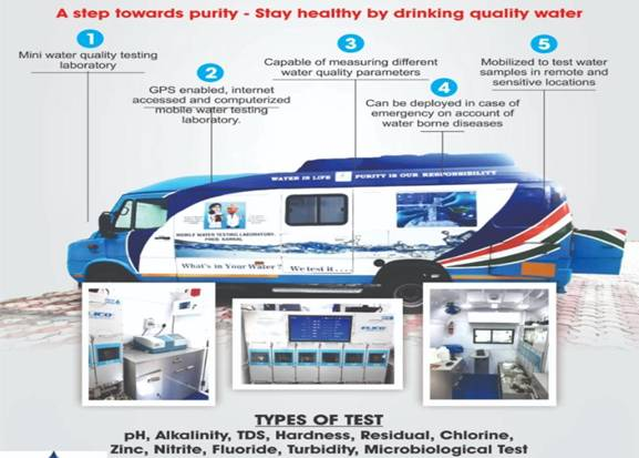Haryana Government comes up with an innovative solution for Water testing; Launches State of the Art Mobile Water Testing Laboratory Van