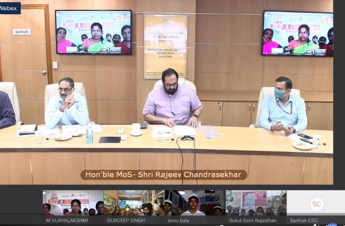 PMGDISHA and CSCs have emerged as the enablers for digital literacy, MoS IT Shri Rajeev Chandrasekhar