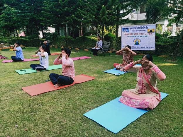 NHPC observes 7th International Day of Yoga through online participation in Nationwide Common Yoga Protocol demonstration