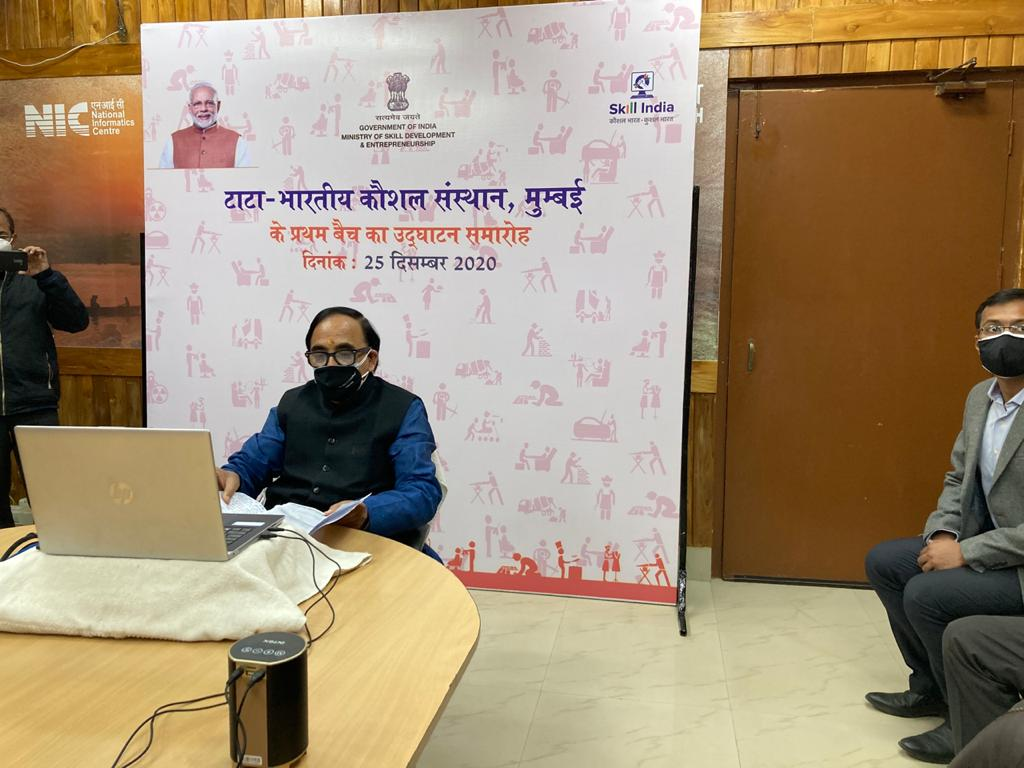 Skill Ministry and Tata launch first batch of Indian Institute of Skills, Mumbai