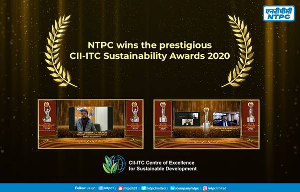 NTPC wins prestigious CII-ITC Sustainability Awards 2020