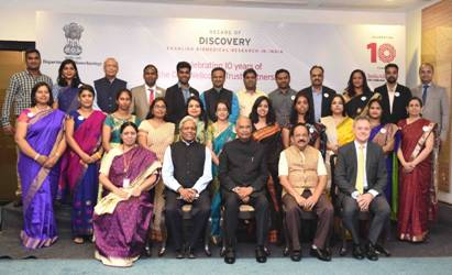 Image result for • Ten years of Joint partnership of DBT-India Alliance