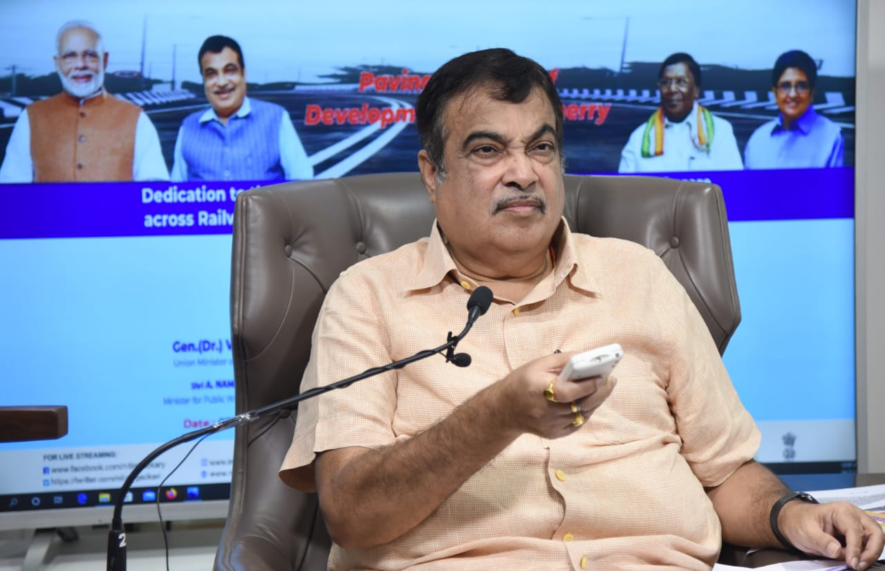 Nitin Gadkari Dedicates Puducherry's Road-Over-Bridge on NH 45-A to the Nation